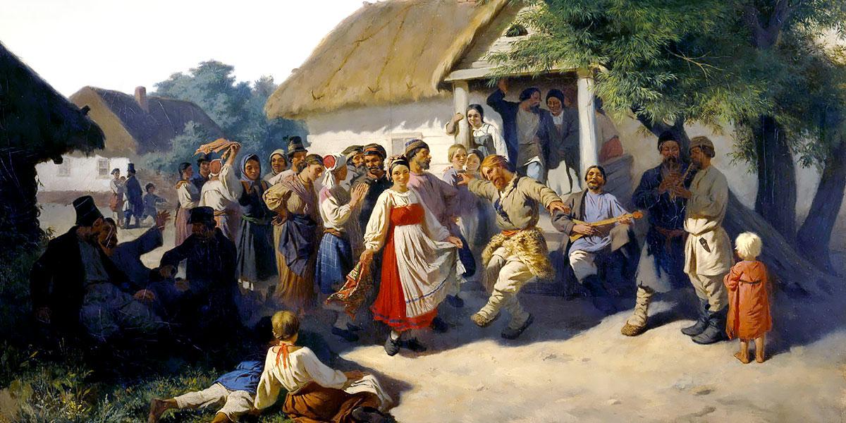 Round Dance in the Kursk Governorate. Konstantin Trutovsky