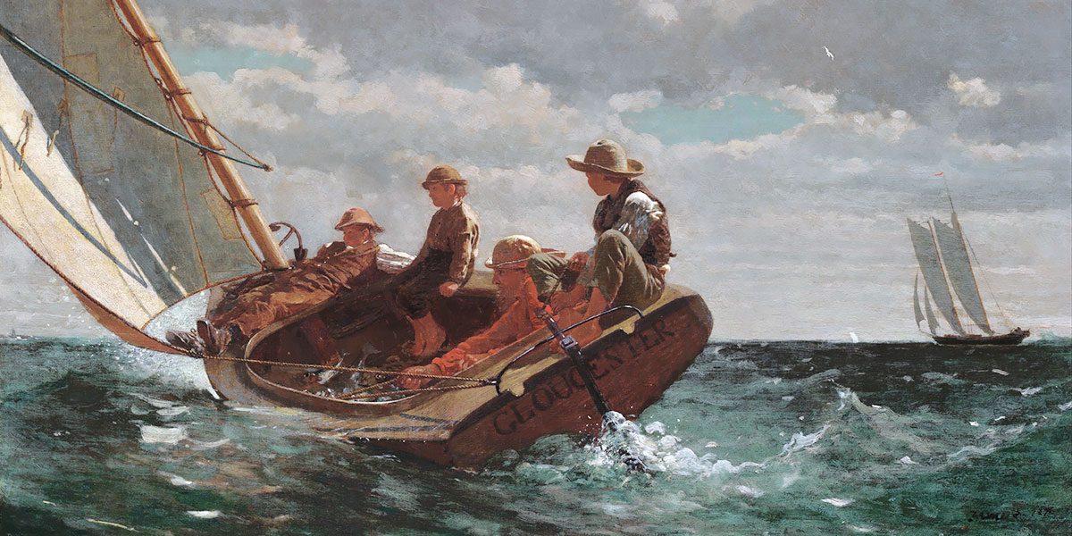 Winslow Homer. Breezing Up (A Fair Wind)
