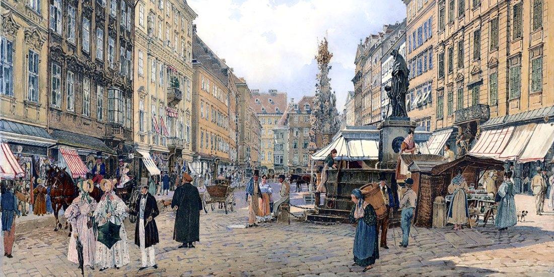 Der Graben in Wien. Rudolf von Alt