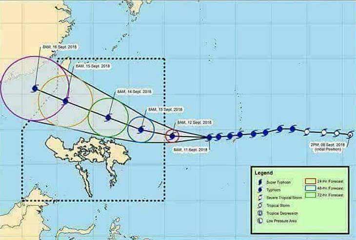 Filippine, almeno 25 morti per Tifone Mangkhut, ora diretto verso Cina