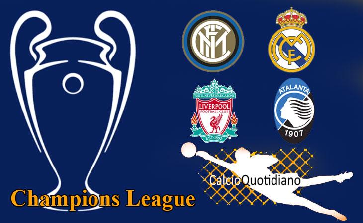 Champions: Liverpool-Atalanta 0-2 Inter-Real Madrid 0-2, colpo bergamasco e ko interista