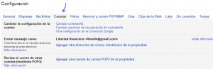 configuracion de cuentas de gmail