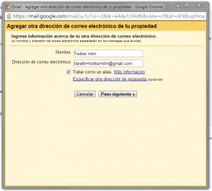 crear un alias en Gmail