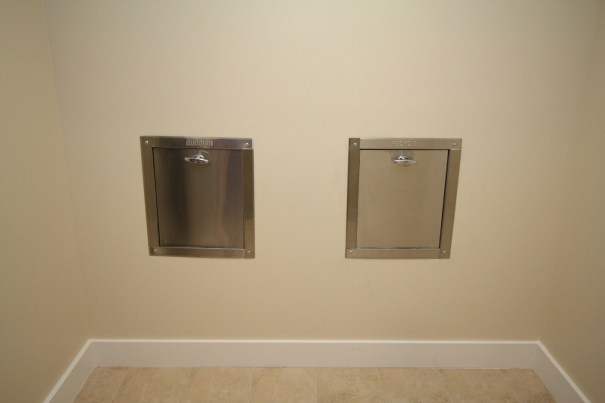 Convenient Trash Chutes for Garbage and Recycling on each floor