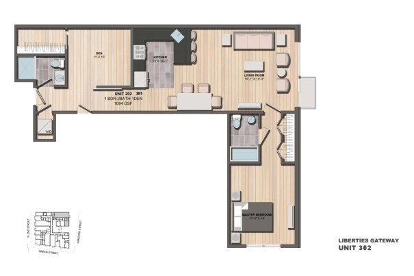 Liberties Gateway Apartment 302 Floorplan