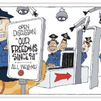 Our Freedoms Since 9/11 Political Cartoon by Signe Wilkinson