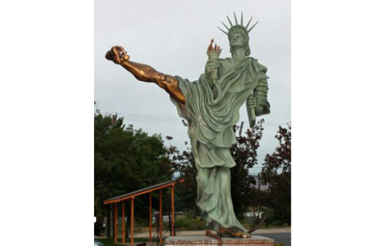 Statue of Liberty Karate Kick
