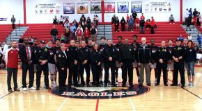 Liberty Basketball Honors Past and Present Service Men and Women