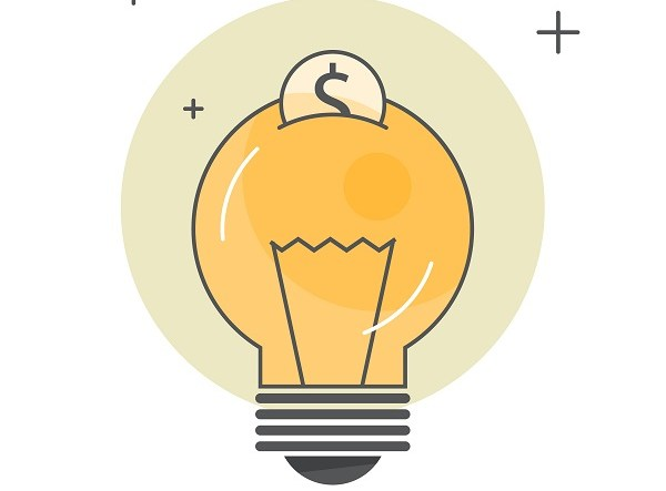 Saving electric energy concept. Idea of reducing energy
