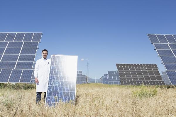 Painéis solares de silício