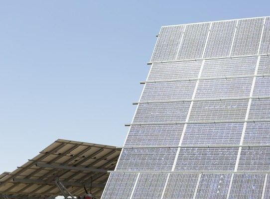 Sunny solar panels