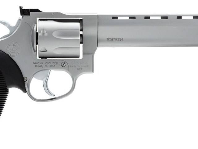 New Taurus 627 .357 Magnum, 7 Rounds, SA/DA, 6.5″ Ported BBL, AS, Stainless: $439