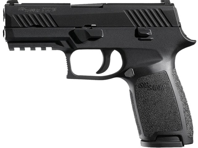 New Sig Sauer P320 LE Carry, .40 S&W, 3.9″ Barrel, Nitron Finish, 14 Rounds, 2 Magazines, Contrast Sights: $399