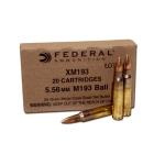 Federal XM193, 5.56 NATO, 55 Grain, Full Metal Jacket, 500 Round Case: $199