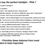 How to buy the perfect handgun – Step 1