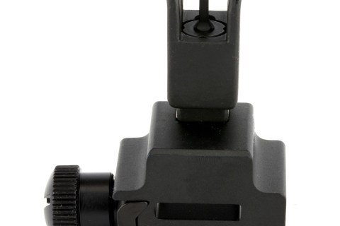 UTG Tactical Flip-Up Front Sight, Low Profile (Gas Block), A2 Squared Post Assembly, Picatinny, Black Finish