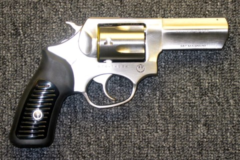 Preowned Ruger SP-101, Never Fired, .357 Magnum, 5 Rounds, Stainless, SA/DA, 3″ Barrel: $497