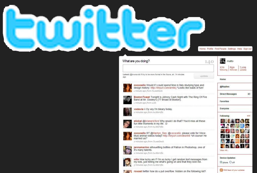 Twitter logo photo