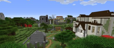 Liberty Minecraft Spawn Village Library
