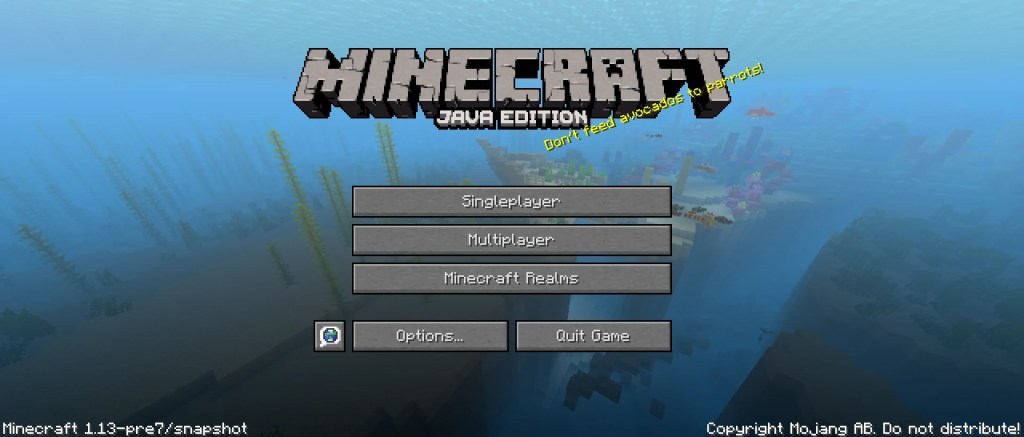 Update Aquatic New Features Minecraft 1 13 Release Date