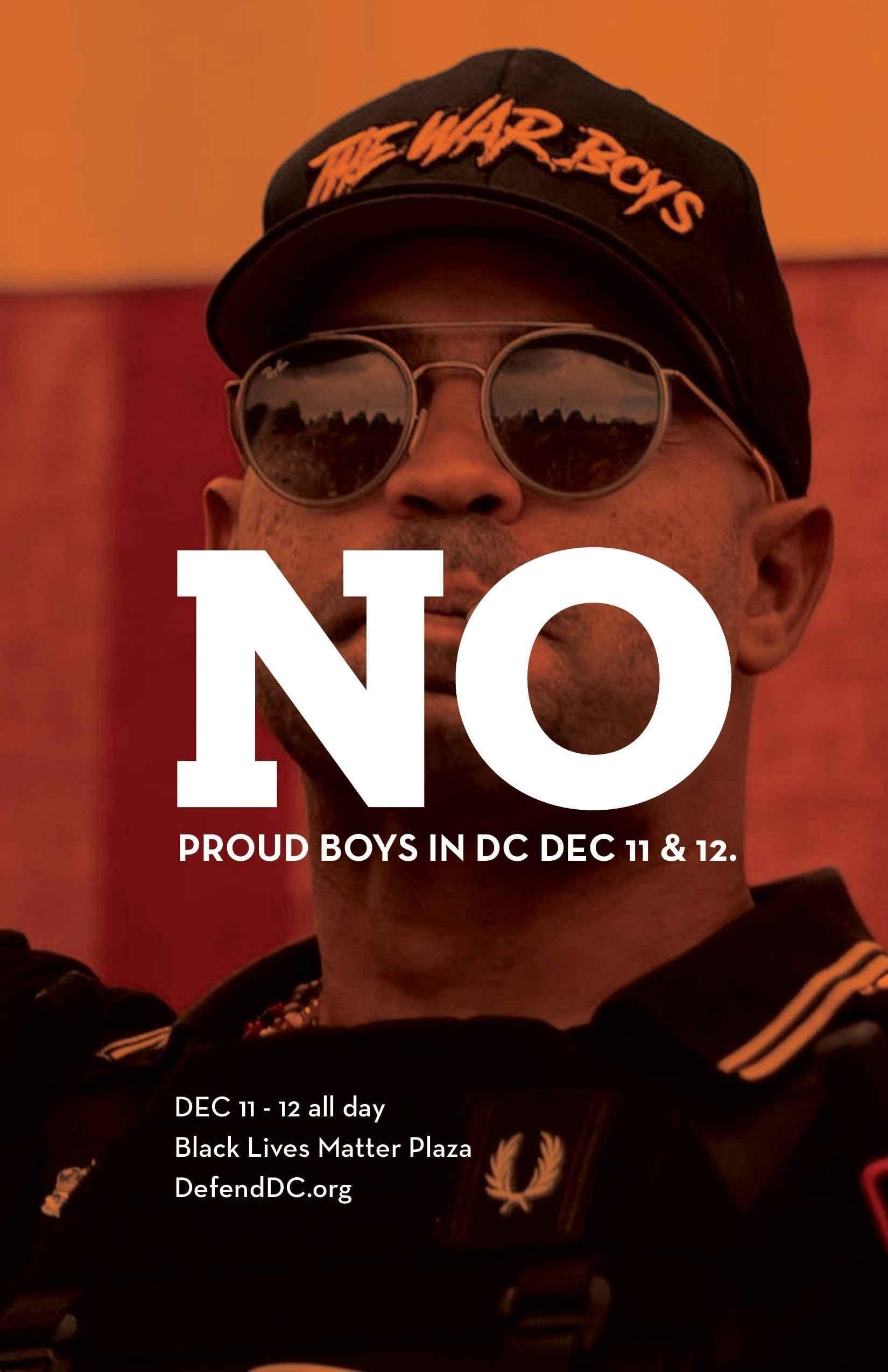 No Proud Boy Rally !