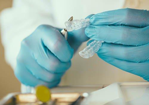 Preparing Teeth Whitening Tray