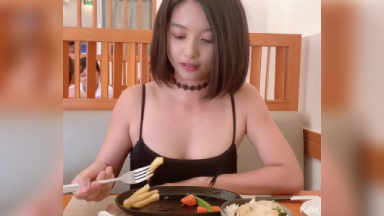 Cute Asian Girl Flashing Butt Plug And Quick Pee At A