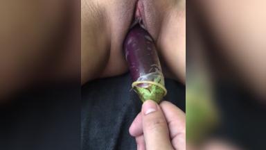 Rapbeh si GF nag Squirt sa Talong na naka Condom