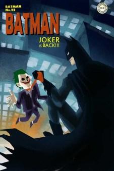 batman affronte le joker sur les toits d'immeubles