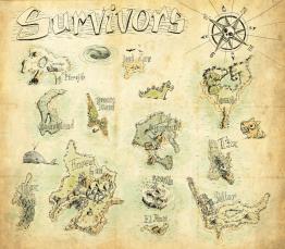 Carte au trésor pour jeu en ligne Survivors