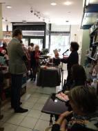 Lecture du livre de Fabrice Humbert à la librairie Maruani