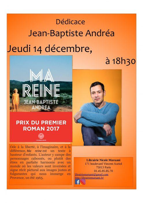 Rencontre avec Jean-Baptiste Andréa