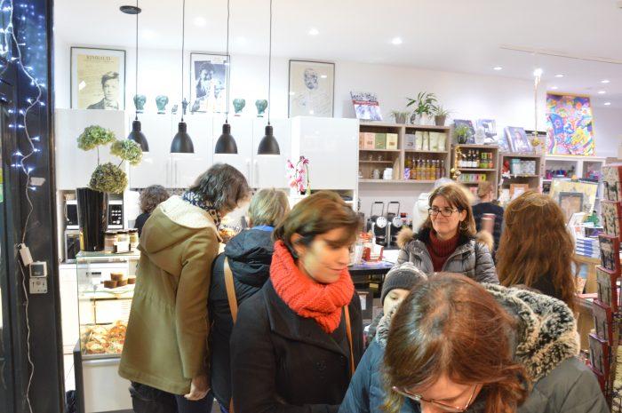 public lors de la rencontre avec dominique fabre à la librairie maruani paris13