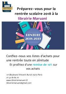 rentrée scolaire librairie paris13 maruani