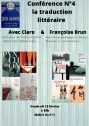 Conférence Traduction Littéraire