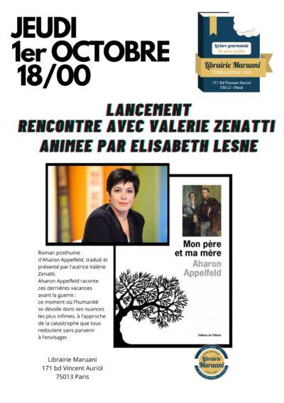 Rencontre Valérie Zenatti