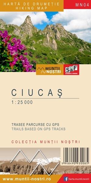 Harta de drumetie a Muntilor Ciucas