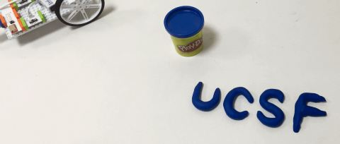 UCSF logo made with playdoh