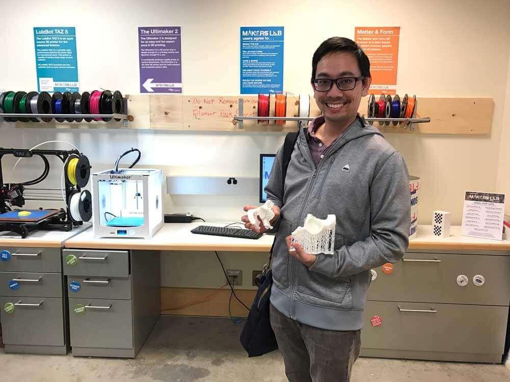 Patron with 3D print