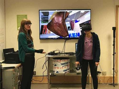 Jenny at VR demo