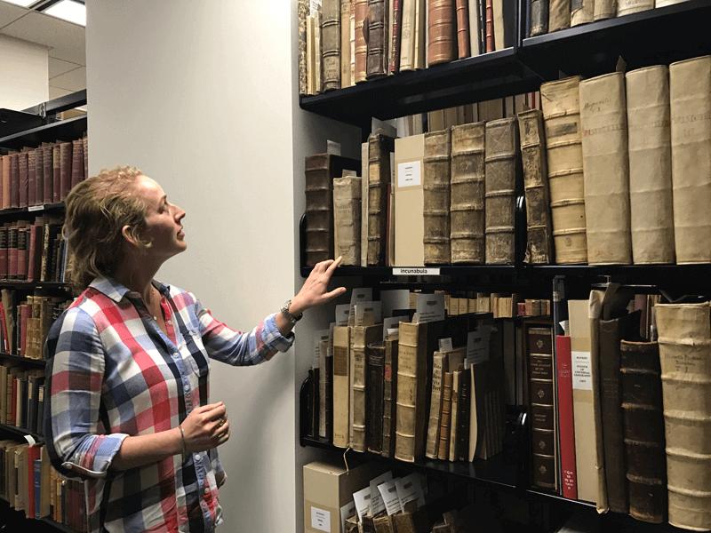 Kelsi in Archives Vault