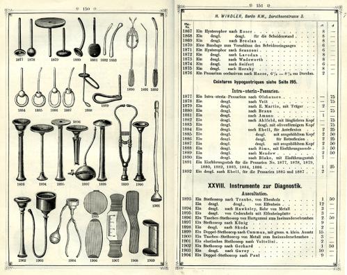 Instrumente und Bandagen