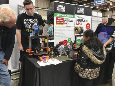 Prusa booth at Maker Faire
