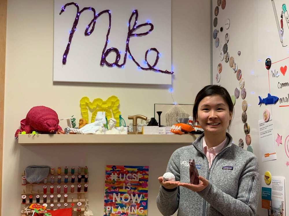 Vivian in the Makers Lab