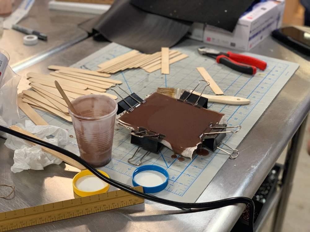 Making silicone suture pad