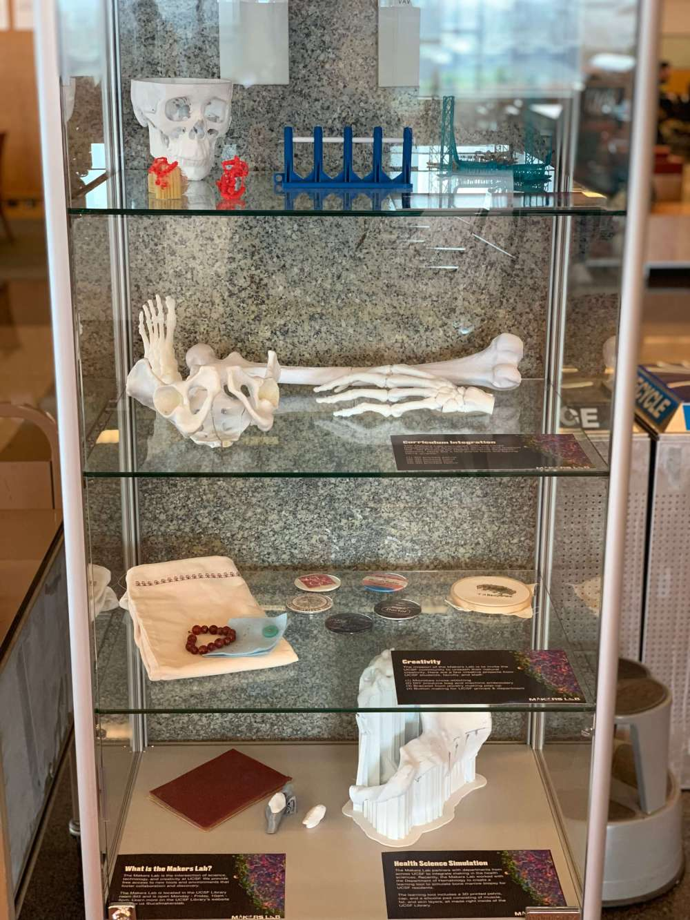 Makers lab project display case