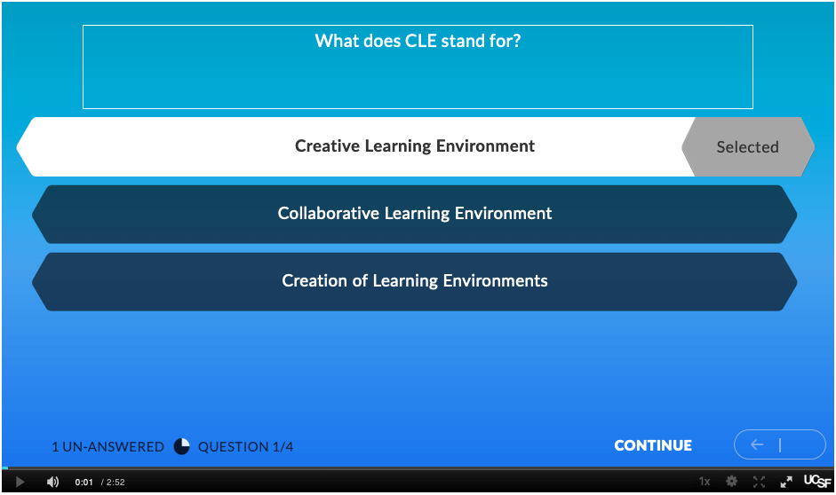 video quiz question