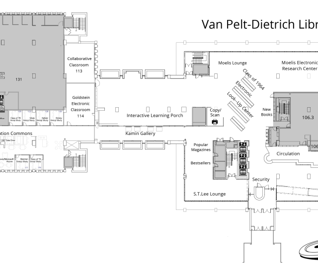 Van Pelt Trich Library Center First Floor Plan