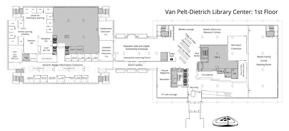 Van Pelt Trich Library Center First Floor Plan
