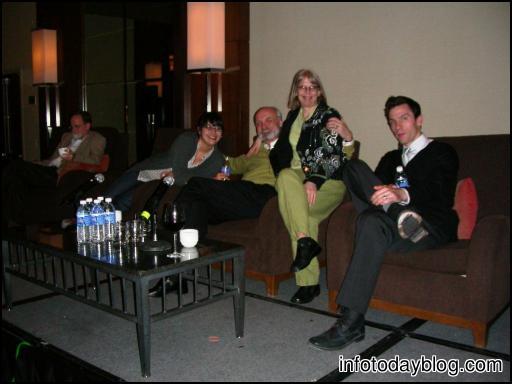 (L-R) Marshall Breeding, Amanda Etches-Johnson, Steve Abram, Aaron Schmidt, Darlene Fichter